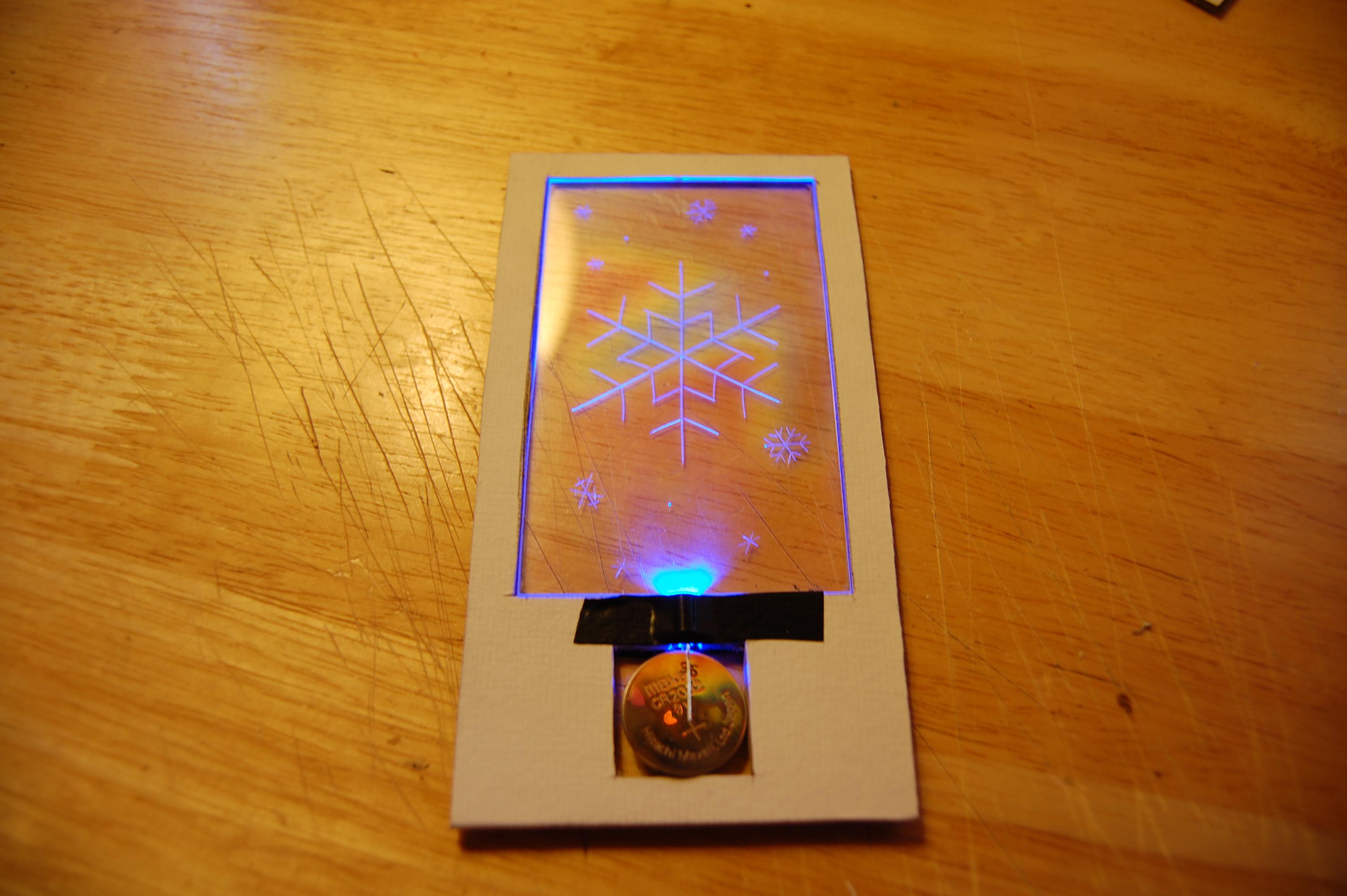 Edge Lit Christmas Cards